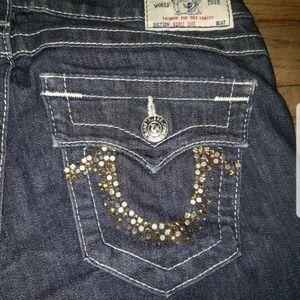 True Religion 'Boot Cut' Jeans Rhinestone Pocket